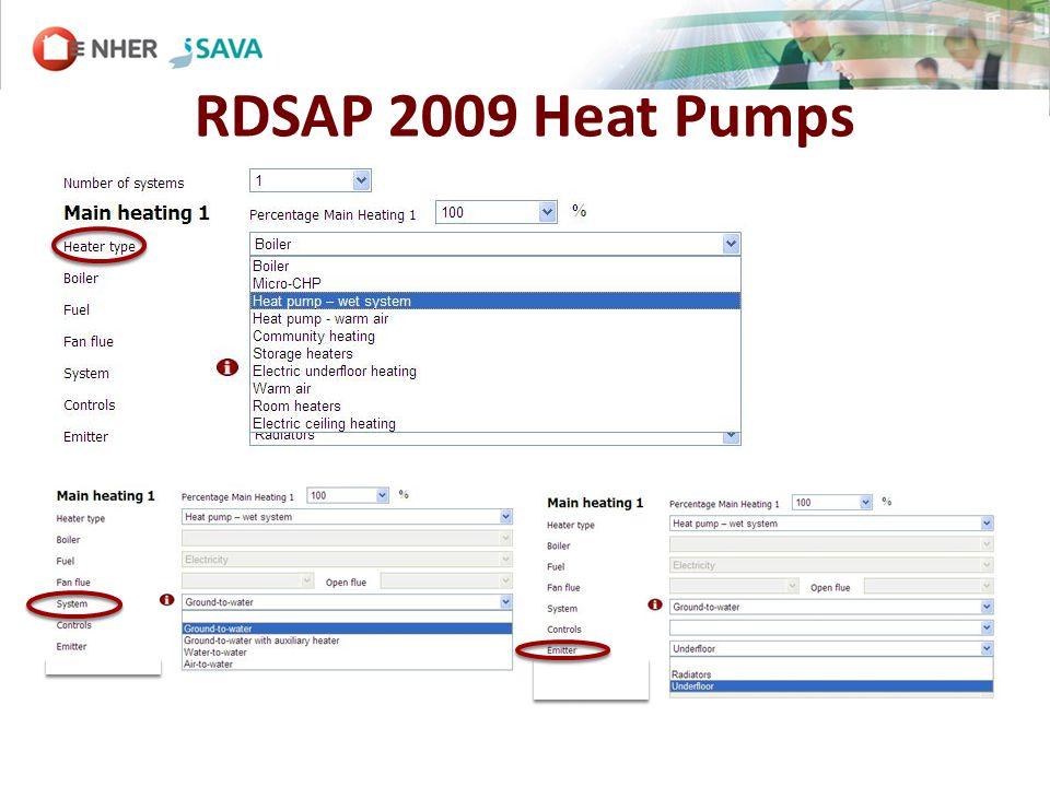 RDSAP 2009 Heat Pumps