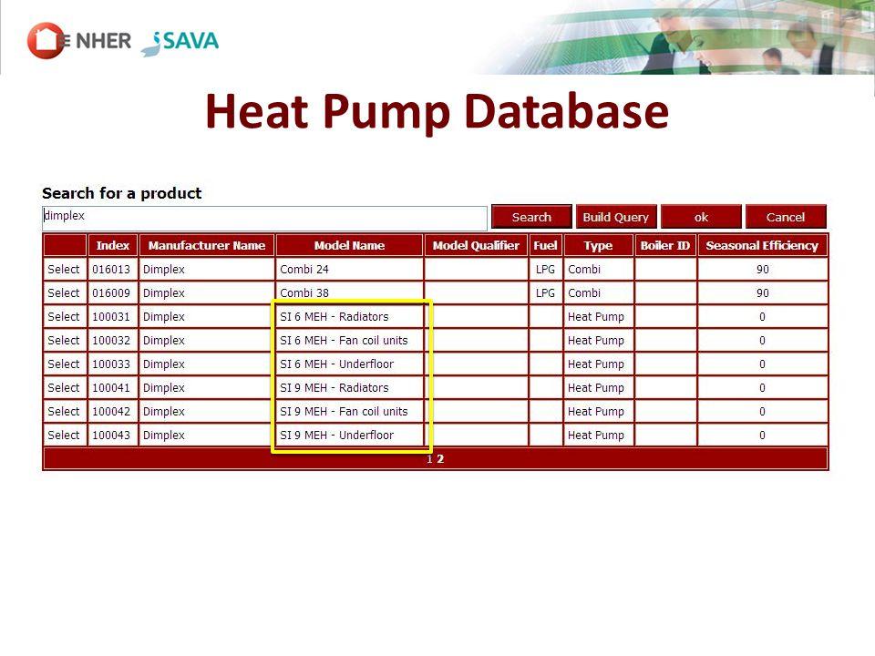 Heat Pump Database
