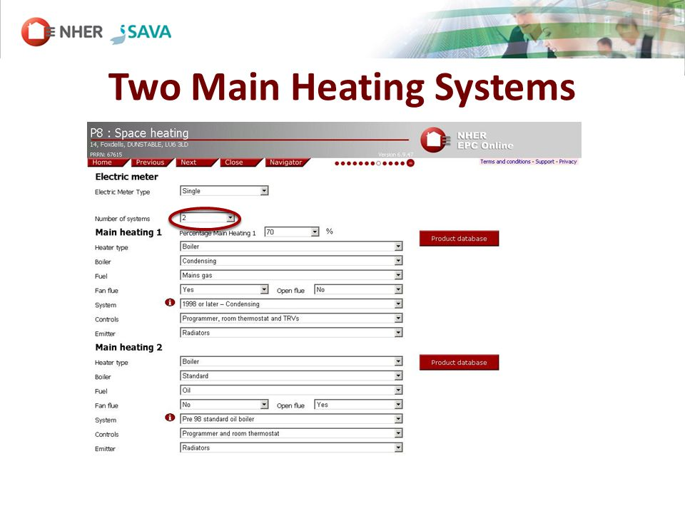 Two Main Heating Systems