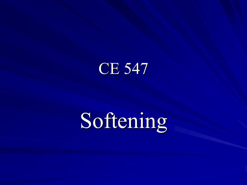 CE 547 Softening