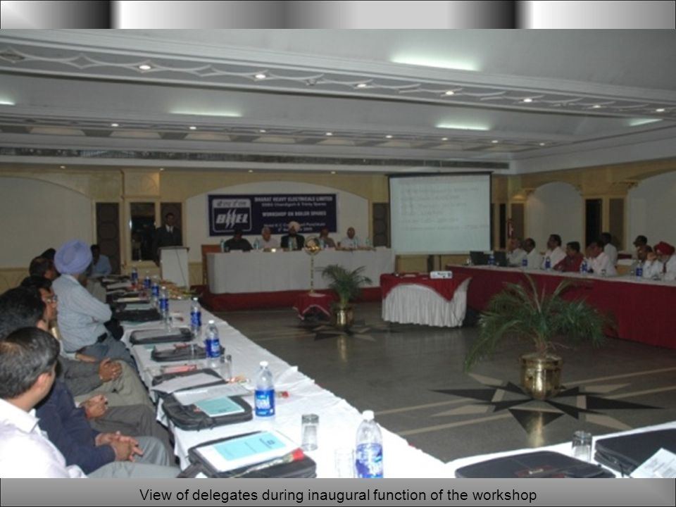 View of delegates during inaugural function of the workshop
