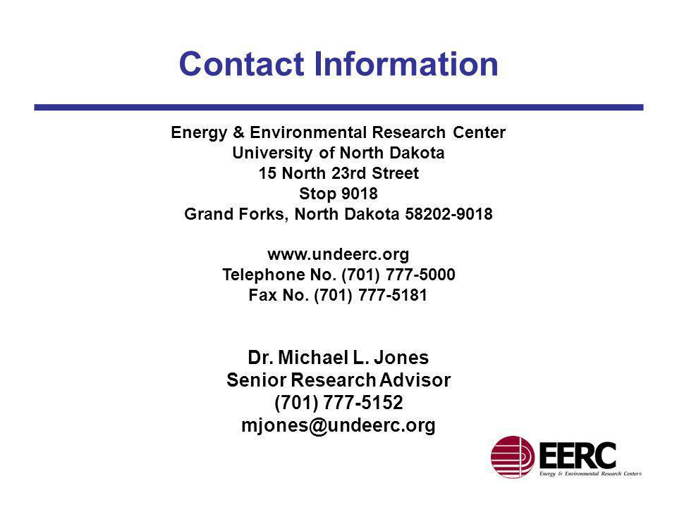 Contact Information Energy & Environmental Research Center University of North Dakota 15 North 23rd Street Stop 9018 Grand Forks, North Dakota 58202-9