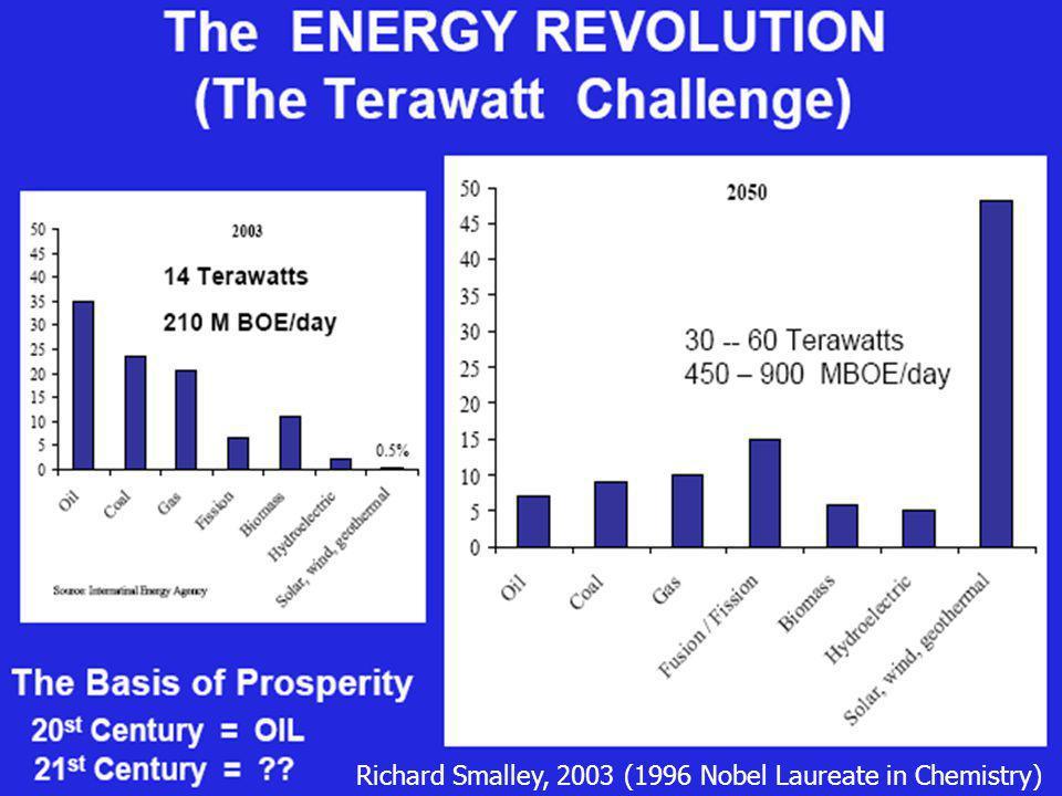 Richard Smalley, 2003 (1996 Nobel Laureate in Chemistry)