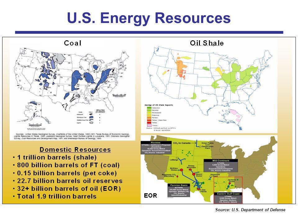 Source: U.S. Department of Defense U.S. Energy Resources