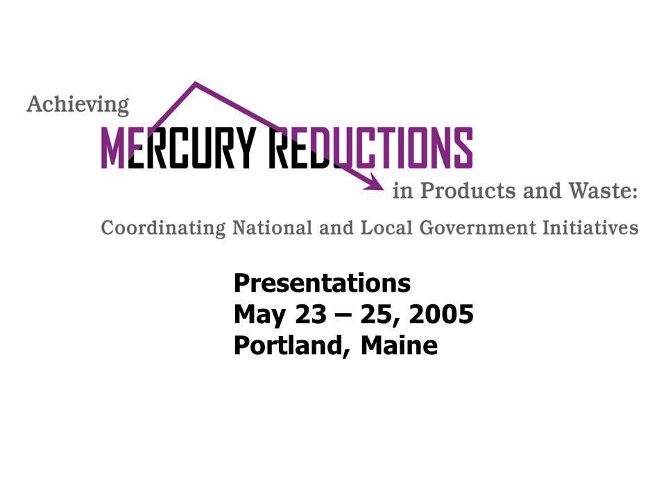 Presentations May 23 – 25, 2005 Portland, Maine