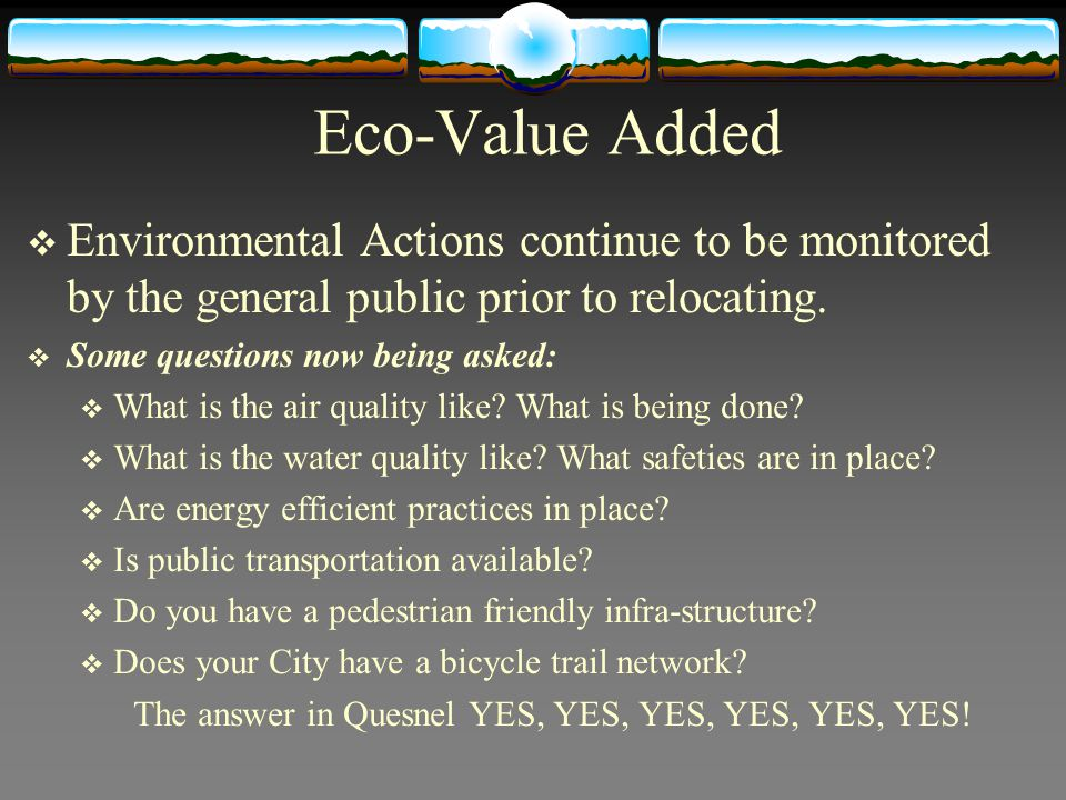 Eco-Value Added Environmental Actions continue to be monitored by the general public prior to relocating. Some questions now being asked: What is the