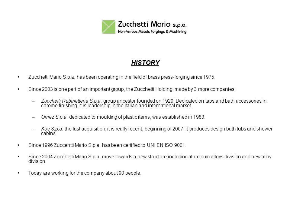 NEW ALLOYS Zucchetti Mario S.p.a.