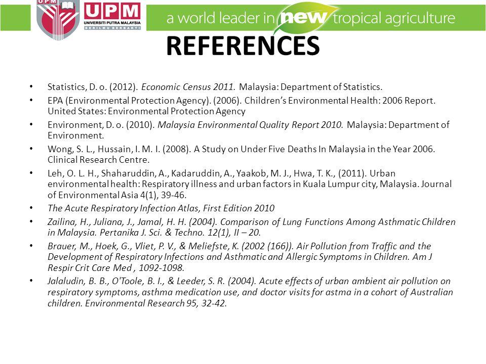 REFERENCES Statistics, D. o. (2012). Economic Census 2011.