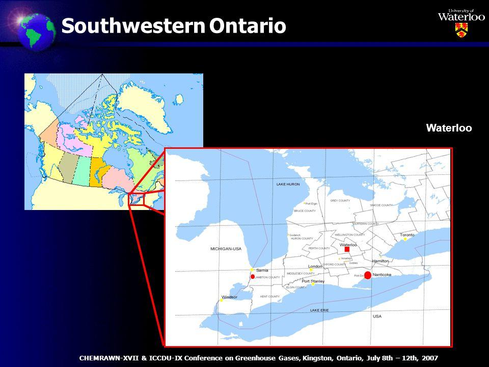 Southwestern Ontario 8382818079 45 44 43 42 Waterloo