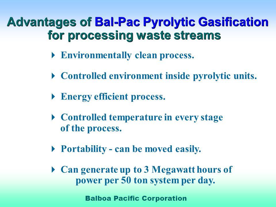 Balboa Pacific Corporation Environmentally clean process.