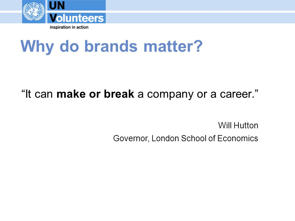 Why do brands matter. It can make or break a company or a career.