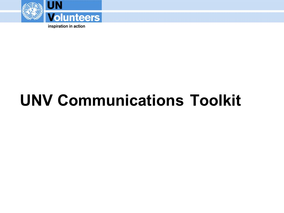 UNV Communications Toolkit
