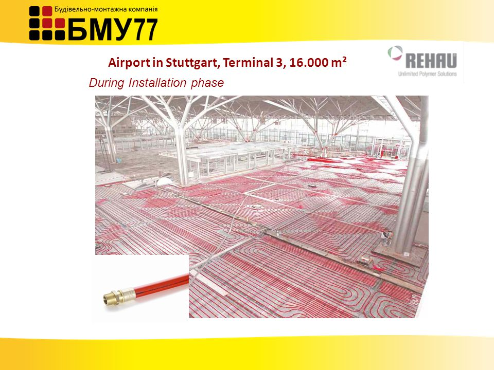 During Installation phase Airport in Stuttgart, Terminal 3, 16.000 m²