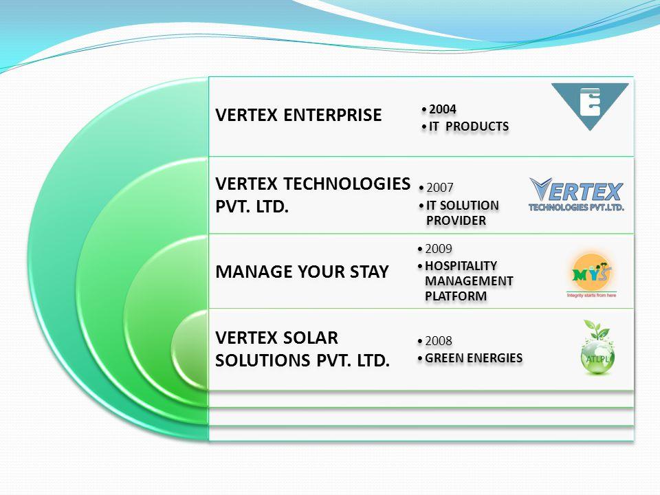 VERTEX ENTERPRISE VERTEX TECHNOLOGIES PVT. LTD. MANAGE YOUR STAY VERTEX SOLAR SOLUTIONS PVT.