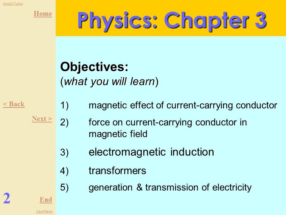 Home End HolisticTuition CashPlants Chapter 3: Electromagnetism Form 5 1 Physics Next > The study of matter