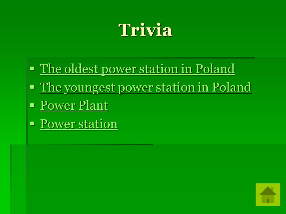 Trivia The oldest power station in Poland The oldest power station in Poland The oldest power station in Poland The oldest power station in Poland The