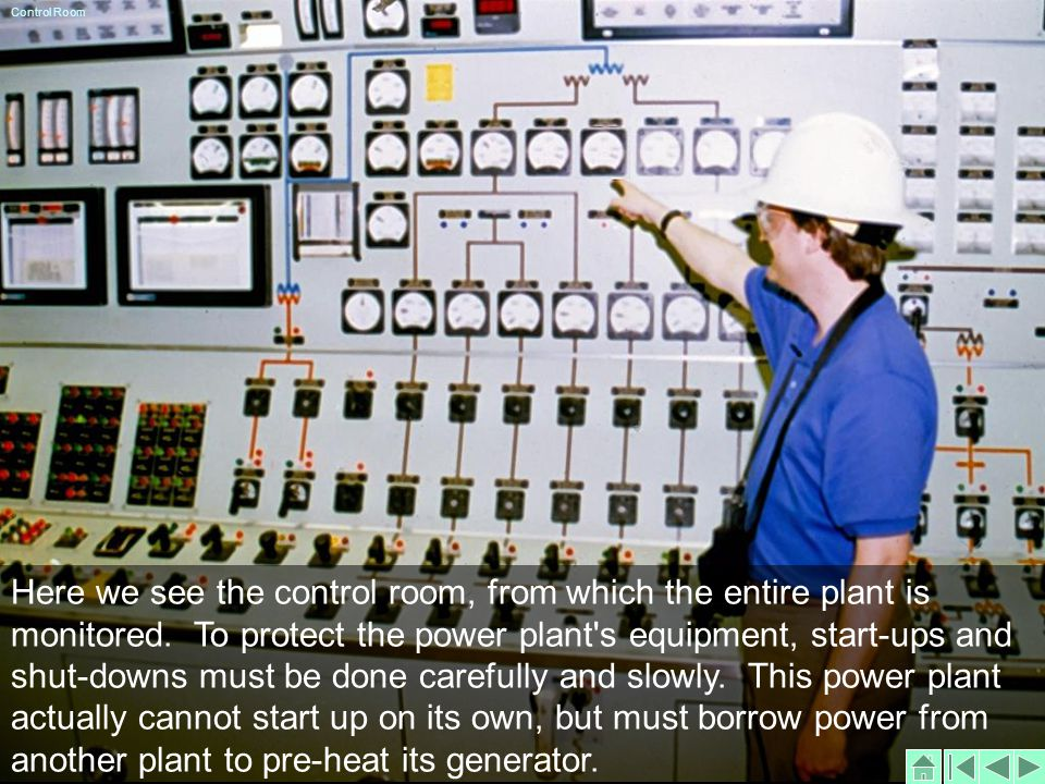 Here we see the control room, from which the entire plant is monitored.