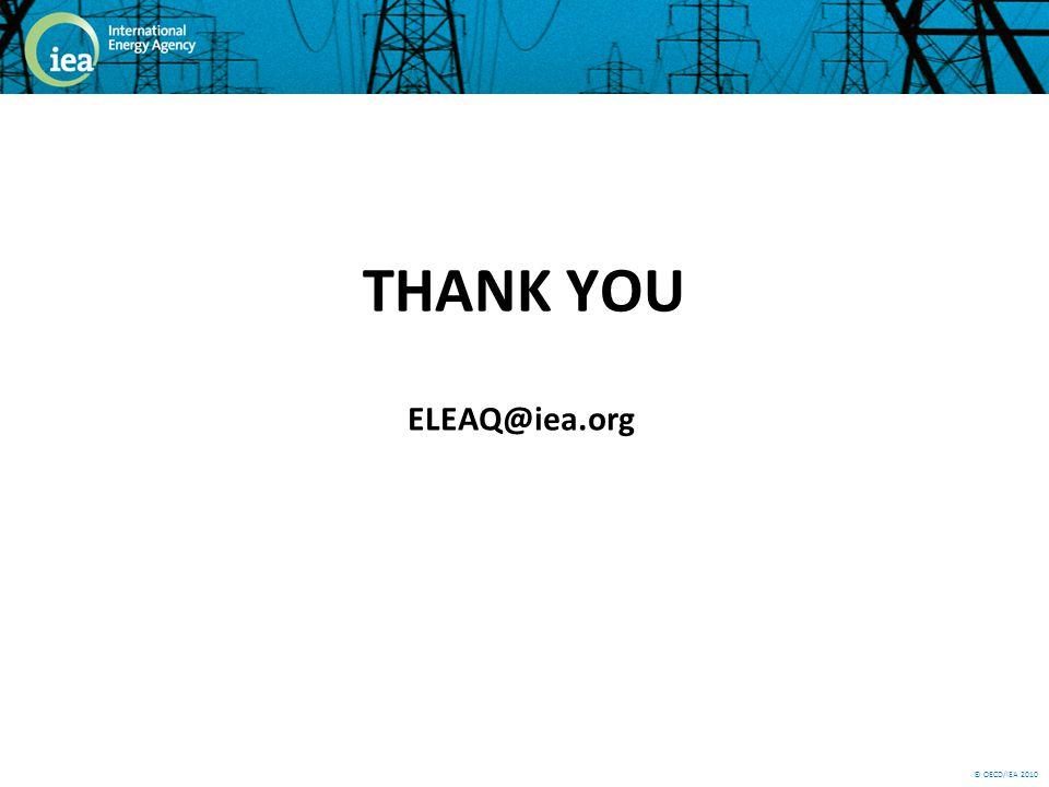 © OECD/IEA 2010 THANK YOU ELEAQ@iea.org