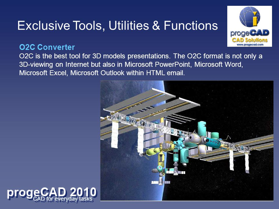 O2C Converter O2C is the best tool for 3D models presentations.