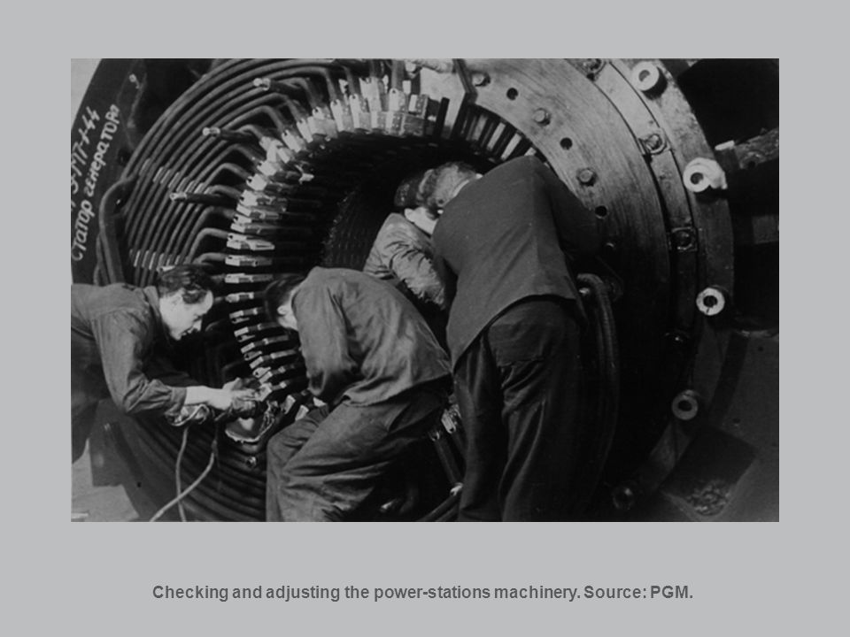 Checking and adjusting the power-stations machinery. Source: PGM.