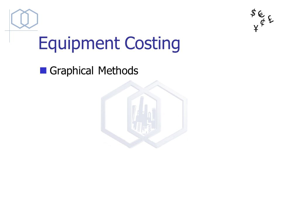 $ ¥ £ ¢ Equipment Costing Graphical Methods