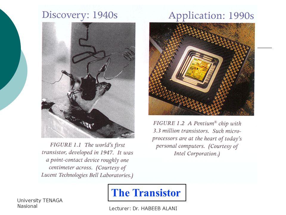University TENAGA Nasional Lecturer: Dr. HABEEB ALANI The Transistor