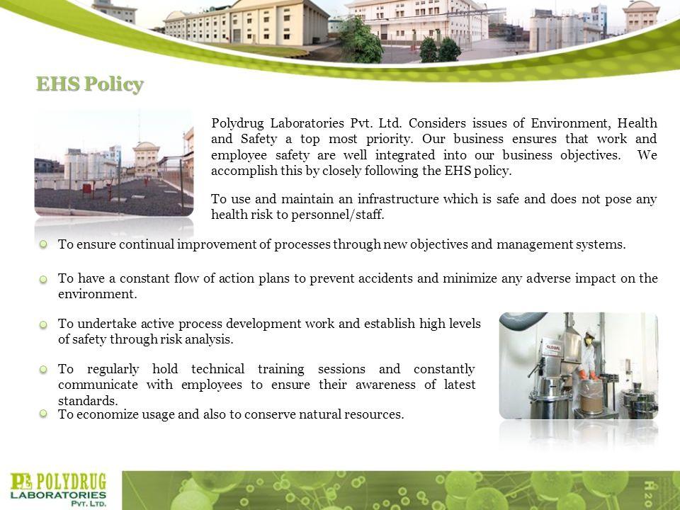 EHS Policy Polydrug Laboratories Pvt.Ltd.