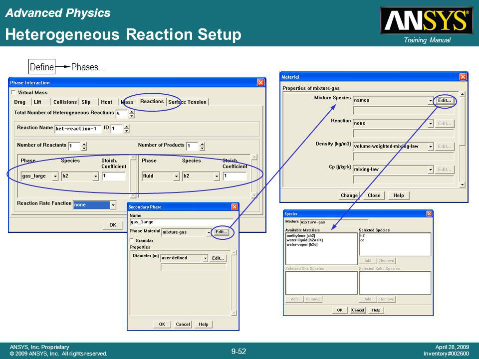 Advanced Physics 9-52 ANSYS, Inc. Proprietary © 2009 ANSYS, Inc. All rights reserved. April 28, 2009 Inventory #002600 Training Manual Heterogeneous R