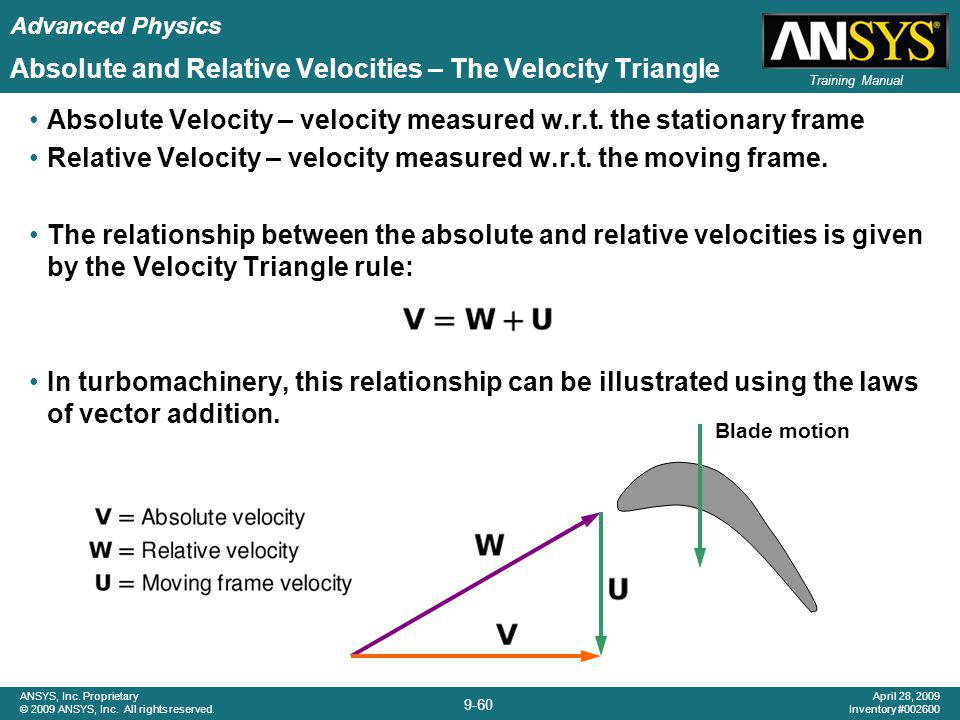 Advanced Physics 9-60 ANSYS, Inc. Proprietary © 2009 ANSYS, Inc. All rights reserved. April 28, 2009 Inventory #002600 Training Manual Absolute and Re