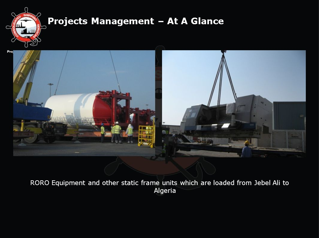 RORO Equipment and other static frame units which are loaded from Jebel Ali to Algeria
