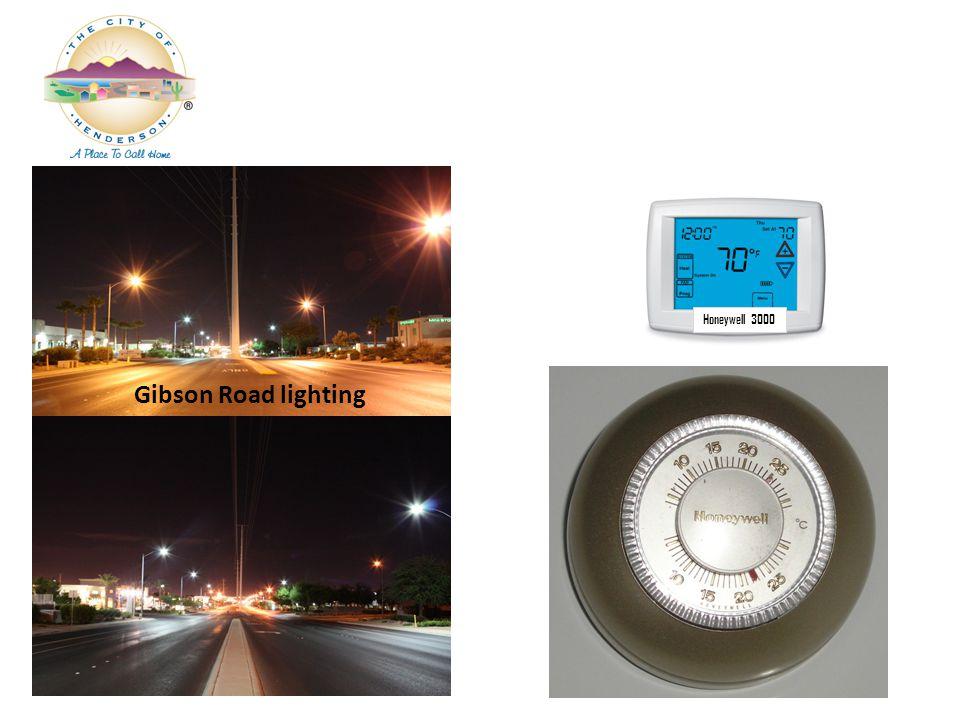 Gibson Road lighting Honeywell 3000