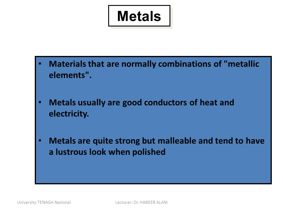 Materials that are normally combinations of