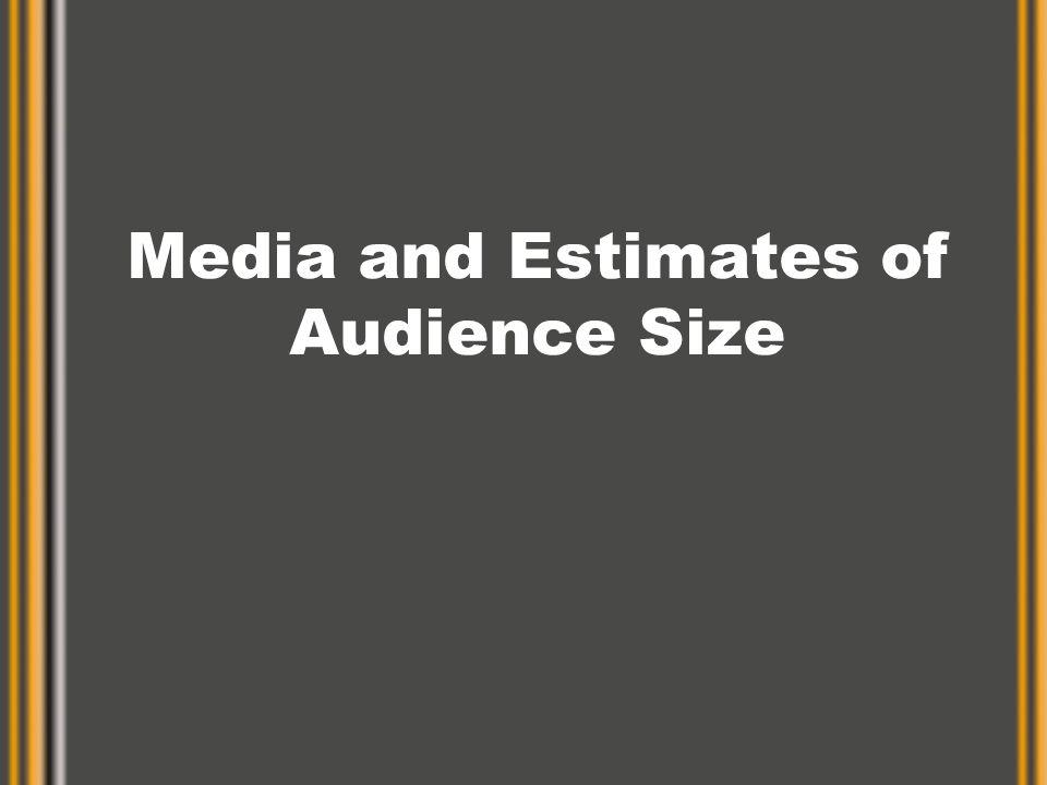 Formulas Rating = HUT x Share Share = Rating / HUT HUT = Rating / Share Rating = Audience Size / Universe Audience Size = Rating x Universe –(Audience size = Gross impressions)