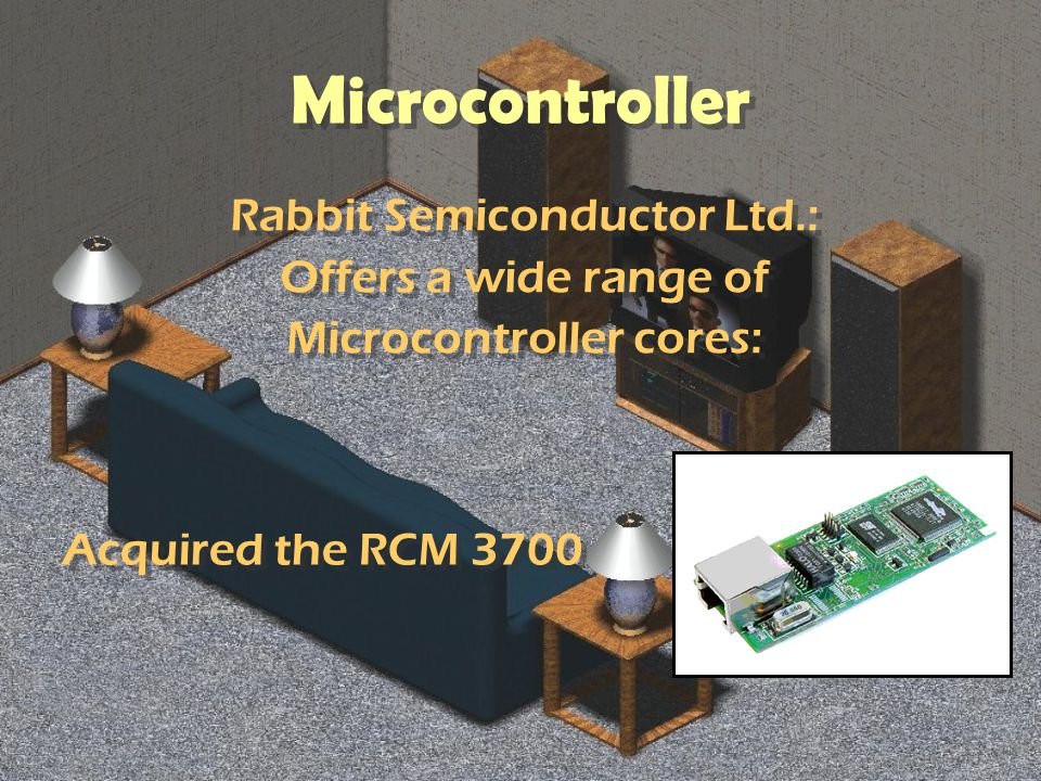 Microcontroller Rabbit Semiconductor Ltd.: Offers a wide range of Microcontroller cores: Rabbit Semiconductor Ltd.: Offers a wide range of Microcontroller cores: Acquired the RCM 3700
