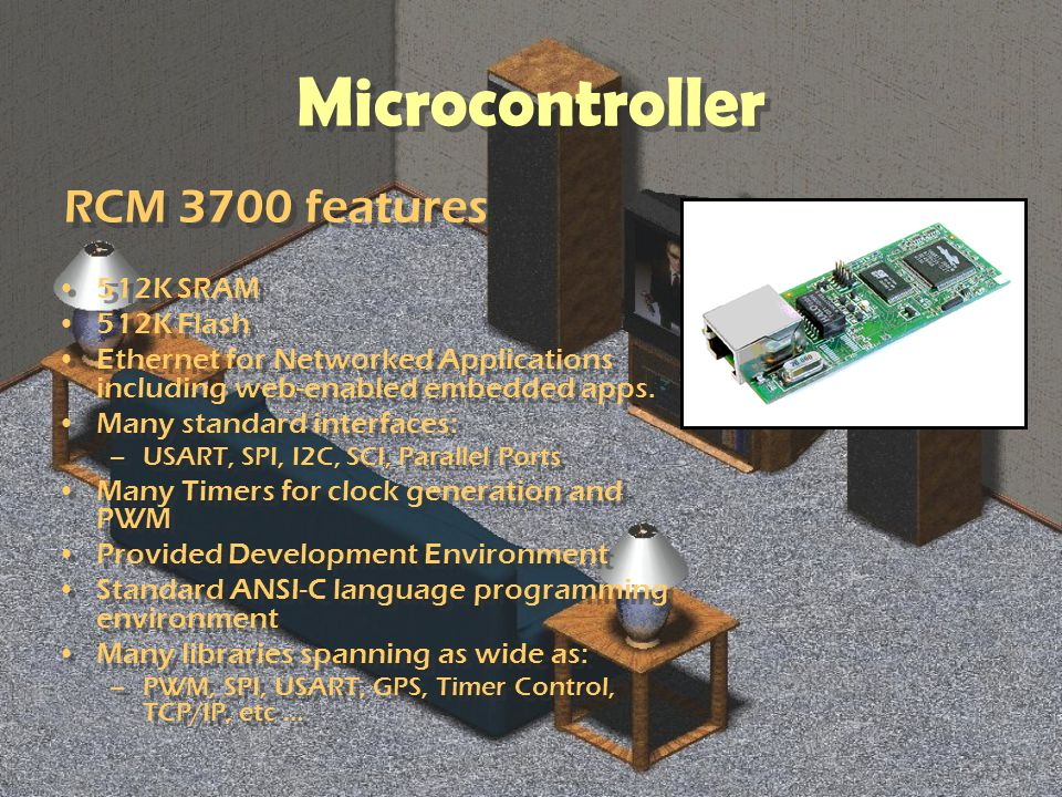 Microcontroller 512K SRAM 512K Flash Ethernet for Networked Applications including web-enabled embedded apps.