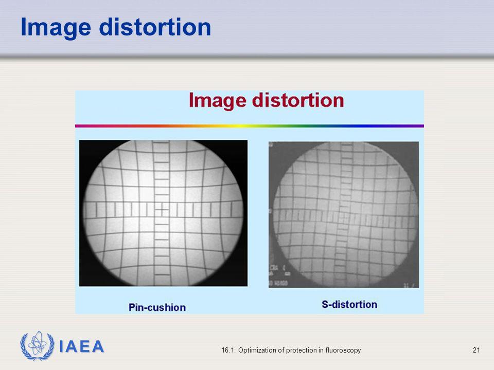 IAEA 16.1: Optimization of protection in fluoroscopy21 Image distortion