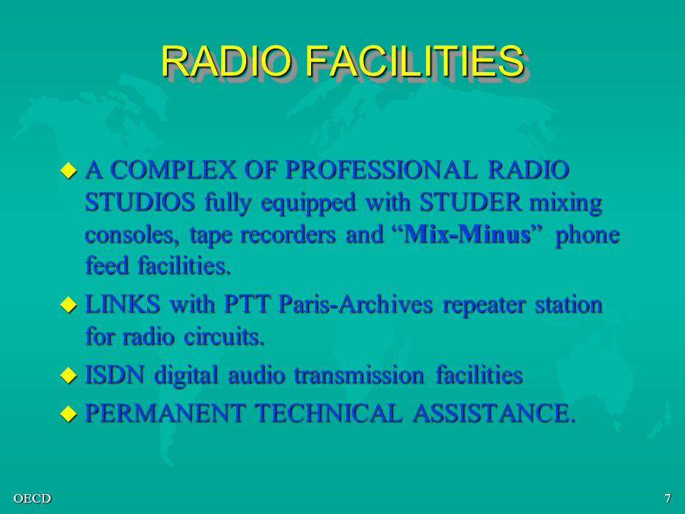 OECD8 RADIO/TV CONTACTS u STUDIO MANAGER Mr François LEONET 01 45 24 80 98 francois.leonet@oecd.org u CHIEF OPERATOR Mr Olivier HOUR 01 45 24 81 30 olivier.hour@oecd.or g