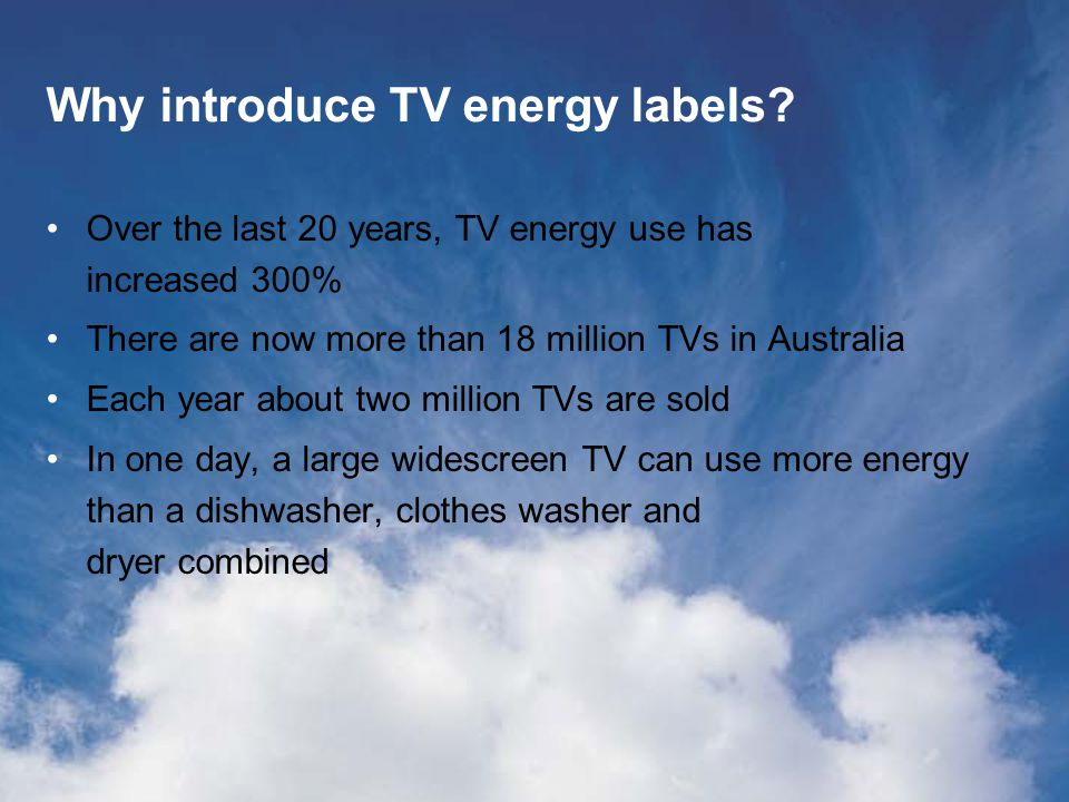 Why introduce TV energy labels.