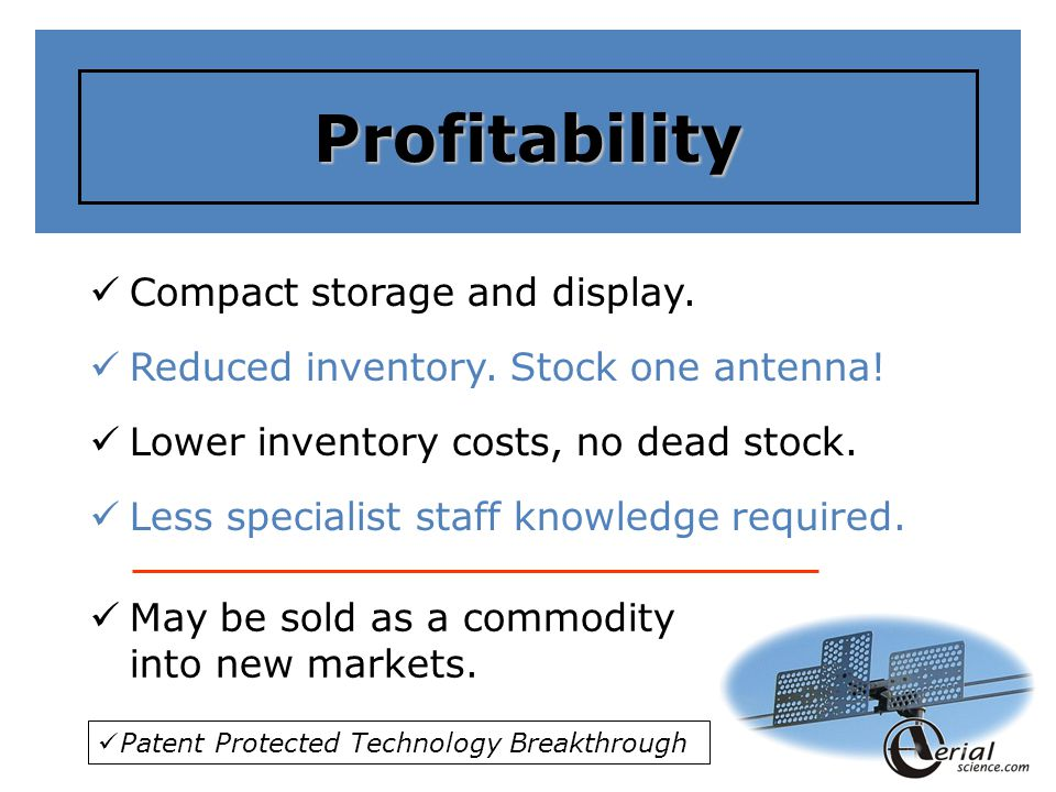 Profitability Compact storage and display.Reduced inventory.