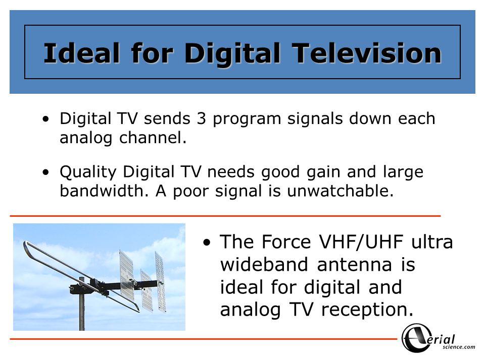 Digital TV sends 3 program signals down each analog channel.