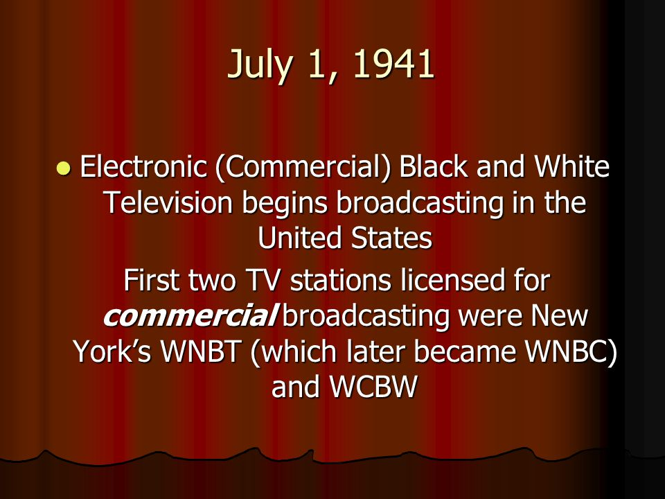 WNBT Program Guide - June 30, 1941
