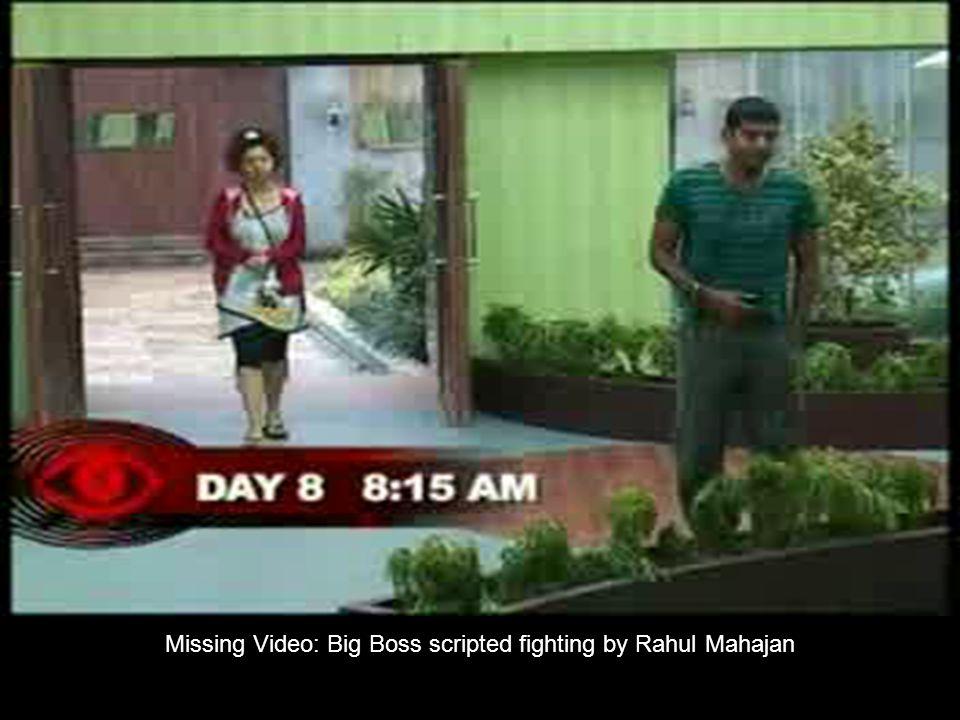 Missing Video: Big Boss scripted fighting by Rahul Mahajan