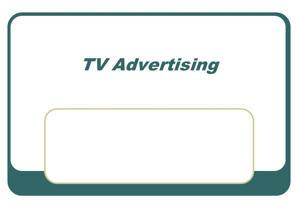TV Advertising