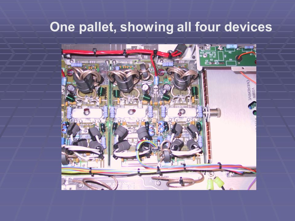 One pallet, showing all four devices