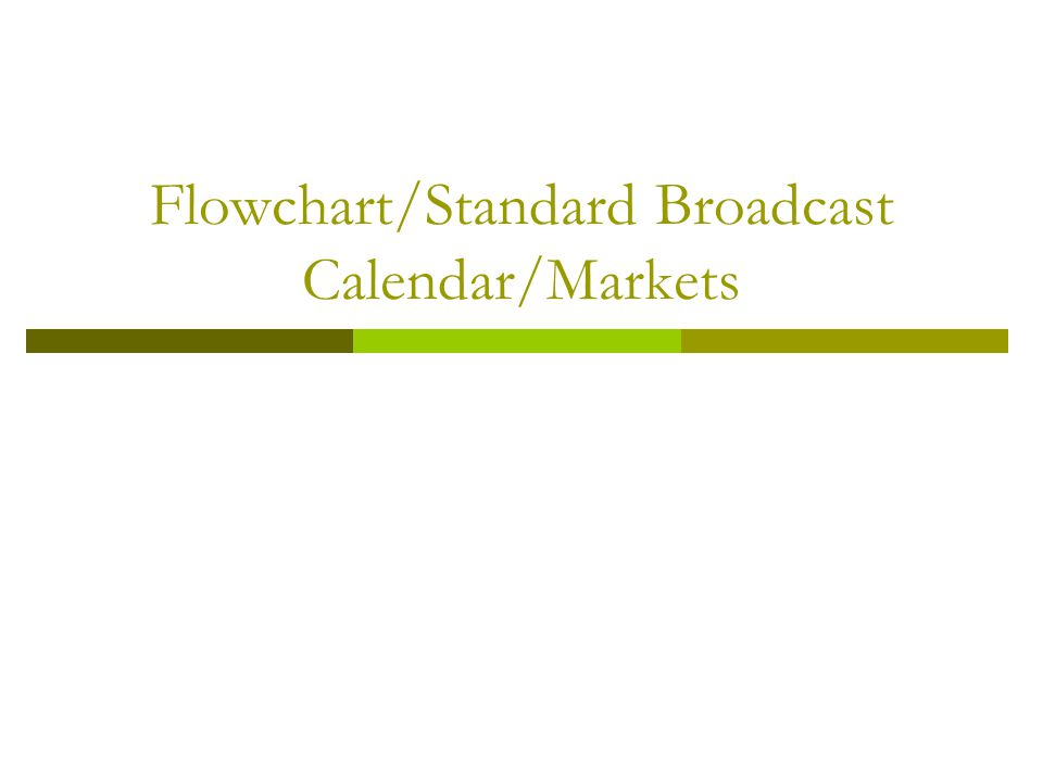 Media Planning Tonights class will cover: Homework review Some new material – Flow Chart, Standard Broadcast Calendar Print New Material on SOV Review for Mid term exam
