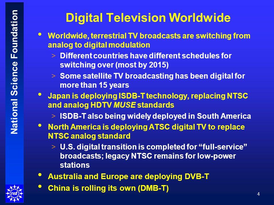 National Science Foundation 25 Digital TV Allotments After DTV Transition