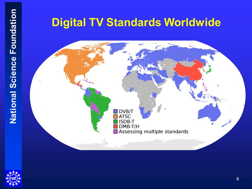 National Science Foundation Digital Transition Worldwide 7 Completed, no analog / Completed for full-service stations / In transition / Planned / No transition planned / No Information