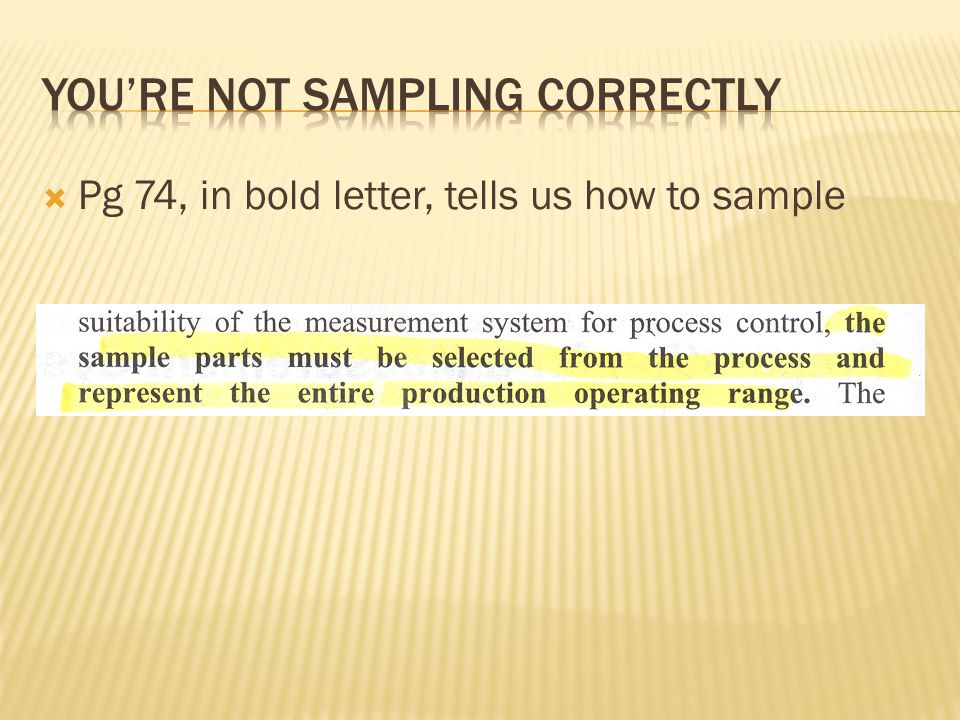 Pg 74, in bold letter, tells us how to sample