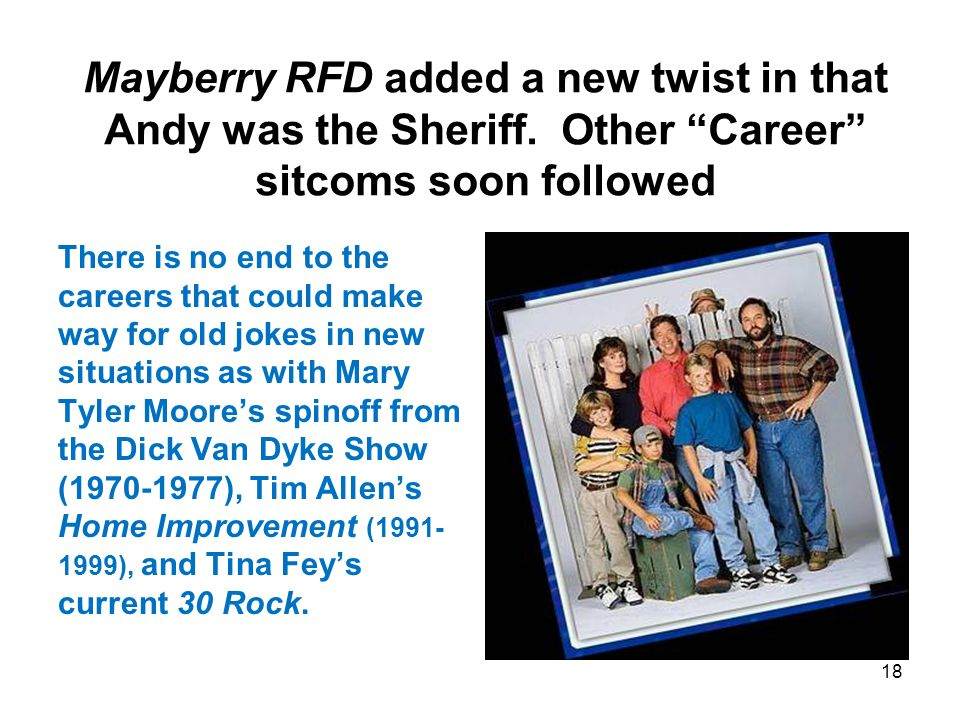 Mayberry RFD added a new twist in that Andy was the Sheriff.