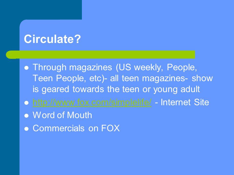 Circulate.